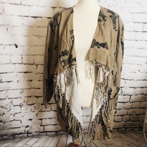 THE AFRICAN VILLAGE Open Front Jacket